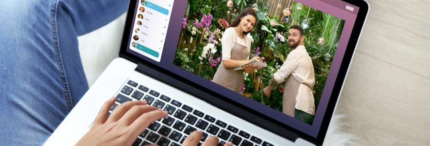 Achat de roses et d'orchidés en ligne